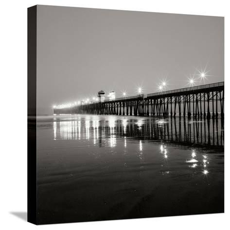 Pier Night 1-Lee Peterson-Stretched Canvas Print