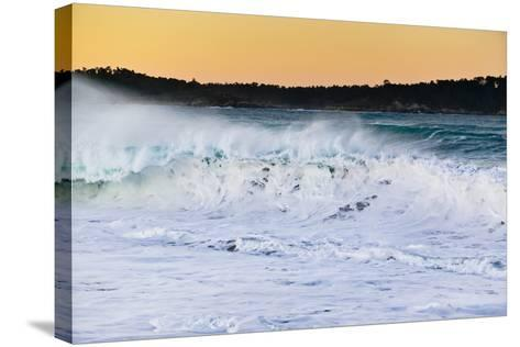 Carmel Waves I-Lee Peterson-Stretched Canvas Print