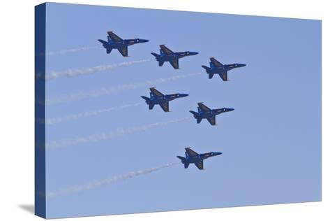 Air Show IV-Lee Peterson-Stretched Canvas Print
