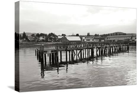 Unsafe Dock BW-Dana Styber-Stretched Canvas Print