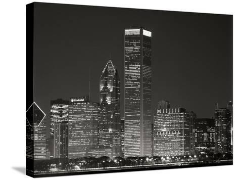 Downtown Chicago II-Bob Stefko-Stretched Canvas Print