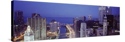 Chicago Skyline II-Bob Stefko-Stretched Canvas Print
