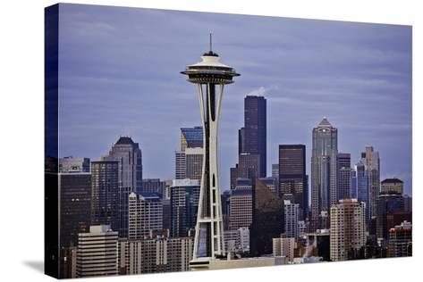 Space Needle II-Bob Stefko-Stretched Canvas Print