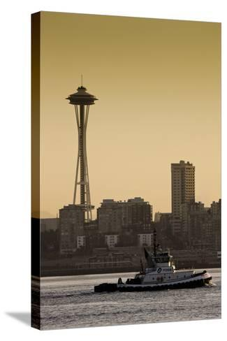 Space Needle IV-Bob Stefko-Stretched Canvas Print