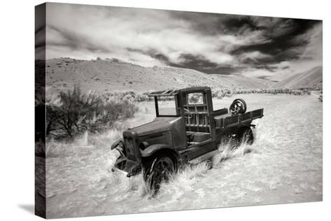 Bannack Truck-George Johnson-Stretched Canvas Print