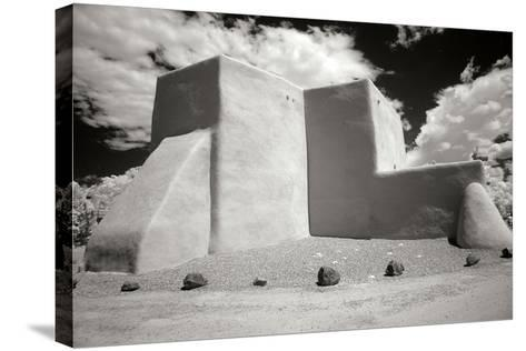 Taos Church III-George Johnson-Stretched Canvas Print