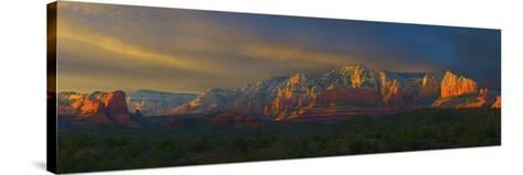 Sedona Sunset-George Johnson-Stretched Canvas Print