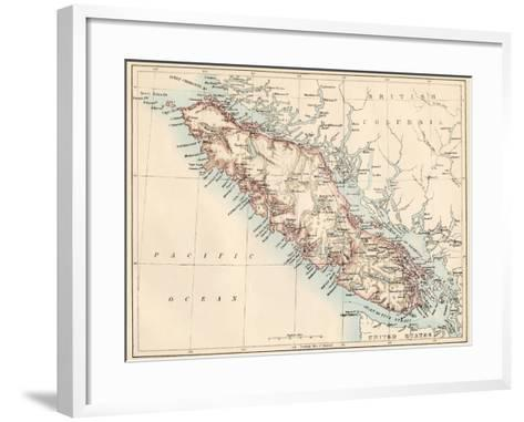 Map of vancouver island british columbia canada 1870s giclee map of vancouver island british columbia canada 1870s framed art print gumiabroncs Gallery