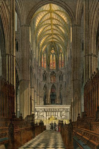 Westminster Abbey, Seen from the Choir--Stretched Canvas Print