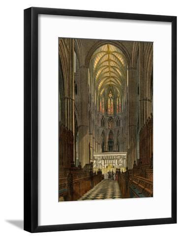 Westminster Abbey, Seen from the Choir--Framed Art Print