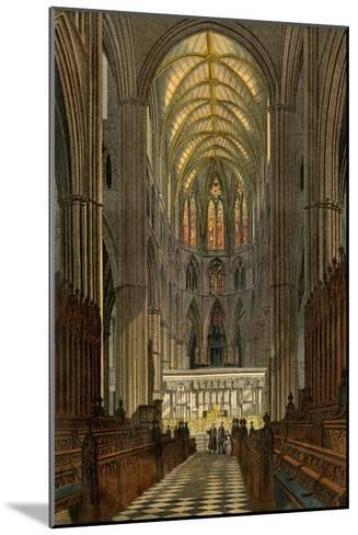 Westminster Abbey, Seen from the Choir--Mounted Giclee Print