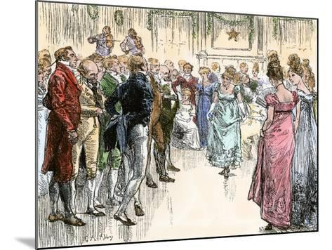Guests Dancing the Virginia Reel at a Westover Plantation Ball, 1700s--Mounted Giclee Print