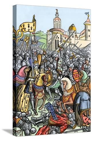 Capture of Bertrand De Guescelin in the Battle of Auray, 1364--Stretched Canvas Print