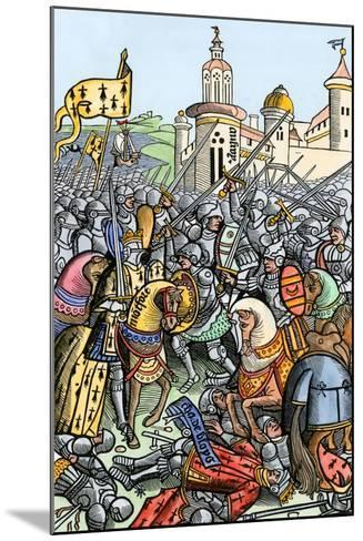 Capture of Bertrand De Guescelin in the Battle of Auray, 1364--Mounted Giclee Print