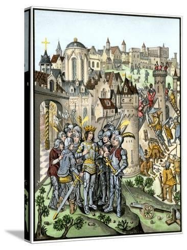 Siege of Town Defended by the Burgundians under Charles Vi, Hundred Years' War--Stretched Canvas Print