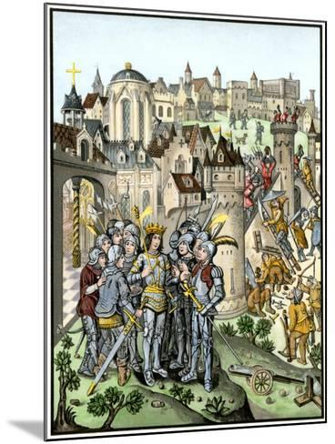 Siege of Town Defended by the Burgundians under Charles Vi, Hundred Years' War--Mounted Giclee Print