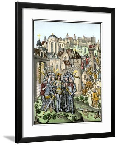 Siege of Town Defended by the Burgundians under Charles Vi, Hundred Years' War--Framed Art Print