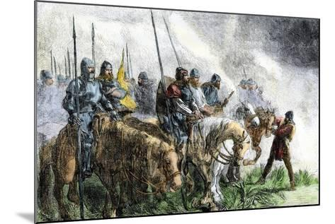 English Army on the Morning of Battle at Agincourt, Hundred Years' War, 1415--Mounted Giclee Print