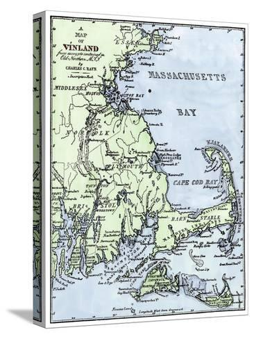Vinland Locations on Cape Cod, as Portrayed by Charles Rafn, from Accounts, Old Norse Manuscripts--Stretched Canvas Print