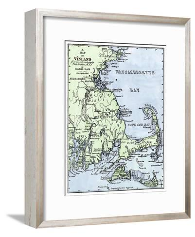 Vinland Locations on Cape Cod, as Portrayed by Charles Rafn, from Accounts, Old Norse Manuscripts--Framed Art Print