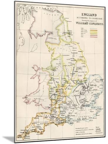 England at the Time of the Norman Conquest, 1066-1081--Mounted Giclee Print