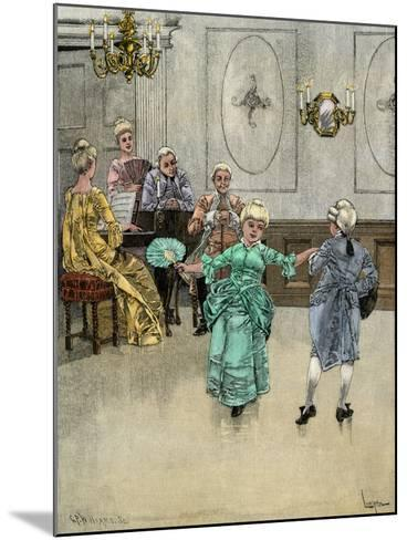 Colonial Children Learning to Dance the Minuet--Mounted Giclee Print