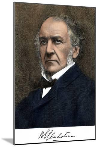 William Ewart Gladstone, with His Signature--Mounted Giclee Print
