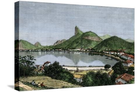 Harbor of Rio De Janeiro, Brazil, 1870s--Stretched Canvas Print