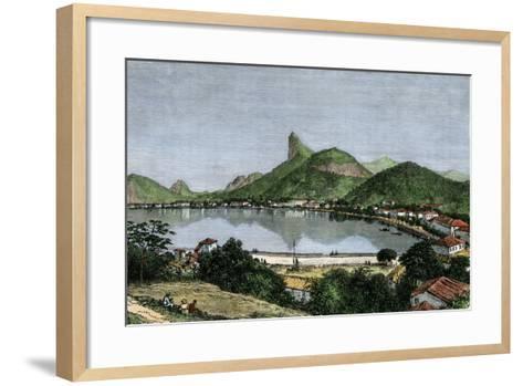 Harbor of Rio De Janeiro, Brazil, 1870s--Framed Art Print