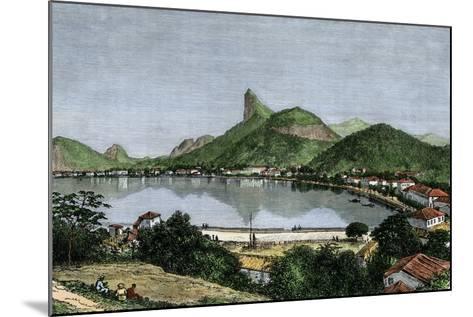 Harbor of Rio De Janeiro, Brazil, 1870s--Mounted Giclee Print