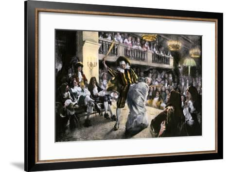 """Theatrical Production of """"Les Fourberies De Scapin,"""" a Play by Moliere--Framed Art Print"""