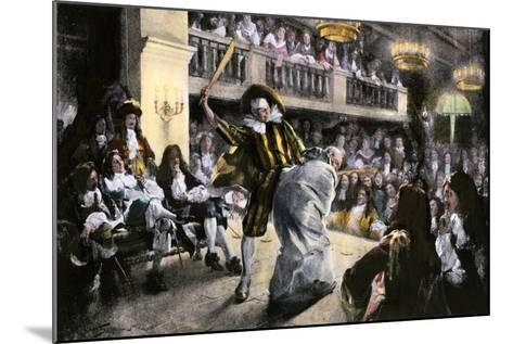 """Theatrical Production of """"Les Fourberies De Scapin,"""" a Play by Moliere--Mounted Giclee Print"""