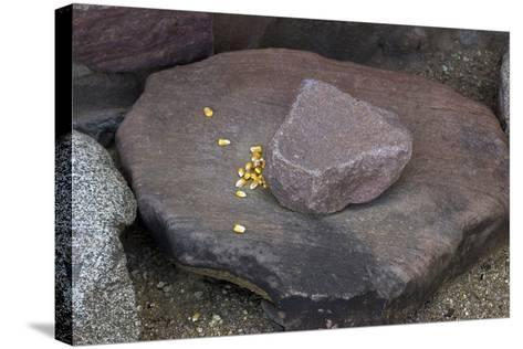 Maize Grinding Stones at Besh-Ba-Gowah Archaeological Park, circa 1225-1400 AD, Arizona--Stretched Canvas Print