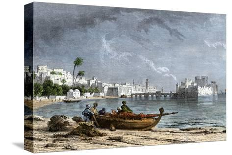 Sidon, a Chief Seaport of Ancient Phoenicia on the Mediterranean--Stretched Canvas Print