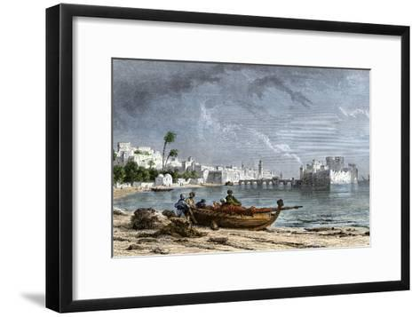 Sidon, a Chief Seaport of Ancient Phoenicia on the Mediterranean--Framed Art Print