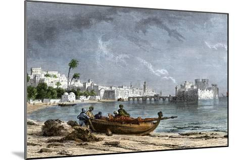 Sidon, a Chief Seaport of Ancient Phoenicia on the Mediterranean--Mounted Giclee Print