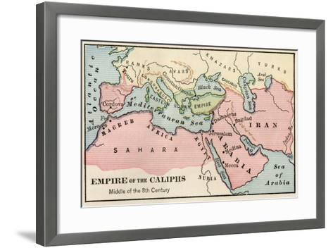 Empire of the Arab Caliphs, Middle of the 8th Century--Framed Art Print