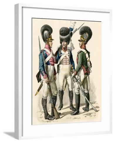 French Army Uniforms: Infantry 1814-1825, Grenadier 1812-1815, and Cavalry 1805-1812--Framed Art Print