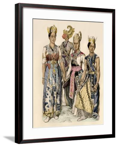 Performers of Java in Traditional Costumes--Framed Art Print