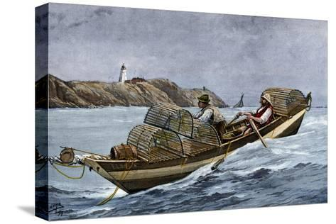 Lobster Fishermen in the Grand Manan Channel Between Maine and New Brunswick, 1890s--Stretched Canvas Print