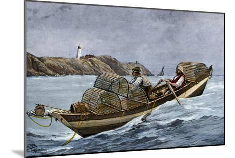Lobster Fishermen in the Grand Manan Channel Between Maine and New Brunswick, 1890s--Mounted Giclee Print