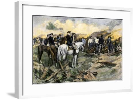 Washington Directing the Siege of Yorktown, Virginia, During the American Revolution, 1781--Framed Art Print