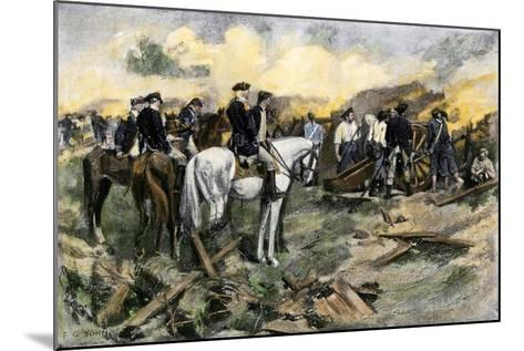Washington Directing the Siege of Yorktown, Virginia, During the American Revolution, 1781--Mounted Giclee Print
