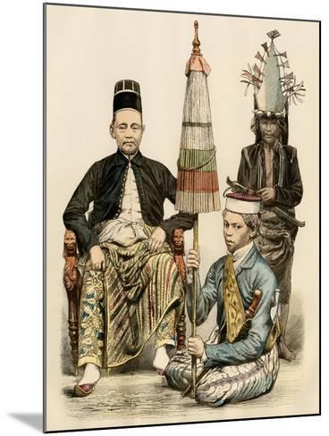 Regent of Java, His Bodyguard, and an Attendant, 1800s--Mounted Giclee Print