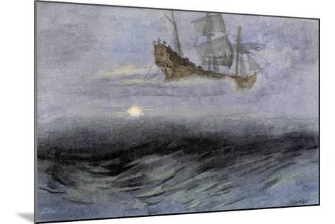 "The Legendary ""Flying Dutchman,"" a Phantom Ship Feared by Sailors--Mounted Giclee Print"