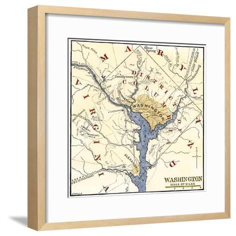 Map of the Washington DC Vicinity at the Outset of the Civil War--Framed Art Print