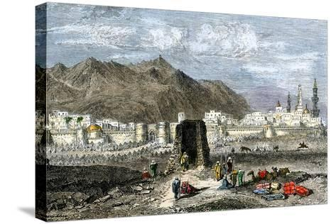 Tomb of the Prophet Muhammad, Medina, Arabia, 1800s--Stretched Canvas Print