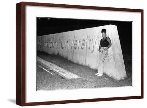 Kim Fields, 1987-Isaac Sutton-Framed Art Print
