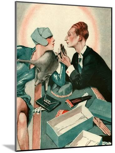 1920s France La Vie Parisienne Magazine Plate--Mounted Giclee Print