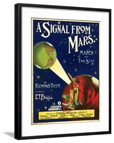1900s USA A Signal From Mars Sheet Music Cover--Framed Art Print